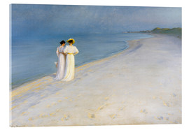 Acrylic glass  Summer Evening on the Skagen Southern Beach with Anna Ancher and Marie Kroyer - Peder Severin Krøyer