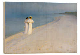 Peder Severin Kroyer - Summer Evening on the Skagen Southern Beach with Anna Ancher and Marie Kroyer