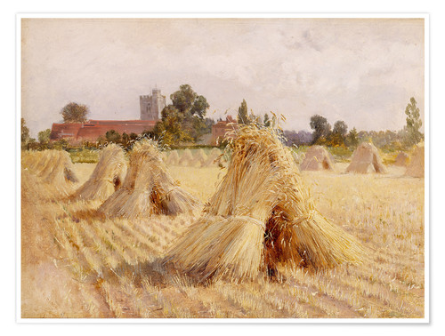 Premium poster Corn Stooks by Bray Church