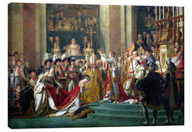 Canvas print  The Consecration of the Emperor Napoleon - Jacques-Louis David