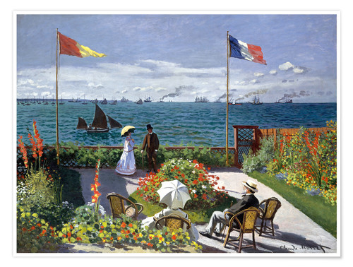 Poster The Terrace at Sainte-Adresse