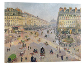 Acrylic glass  The Avenue de L'Opera - Camille Pissarro
