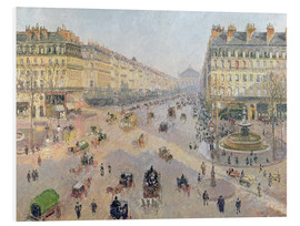 Foam board print  The Avenue de L'Opera - Camille Pissarro
