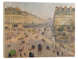 Wood print  The Avenue de L'Opera - Camille Pissarro