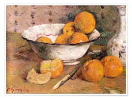 Poster  Still life with Oranges - Paul Gauguin