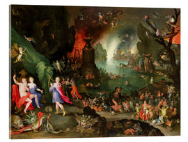 Jan Brueghel d.Ä. - Orpheus with a Harp Playing to Pluto and Persephone in the Underworld