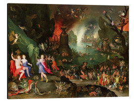 Aluminium print  Orpheus with a Harp Playing to Pluto and Persephone in the Underworld - Jan Brueghel d.Ä.