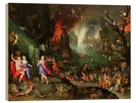Wood print  Orpheus with a Harp Playing to Pluto and Persephone in the Underworld - Jan Brueghel d.Ä.