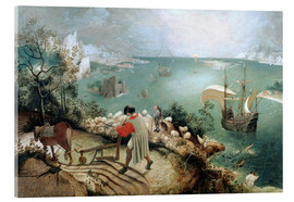 Acrylic glass  Landscape with the fall of Icarus - Pieter Brueghel d.Ä.