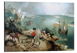 Aluminium print  Landscape with the fall of Icarus - Pieter Brueghel d.Ä.