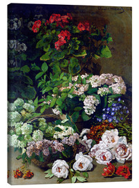 Canvas print  Spring Flowers - Claude Monet