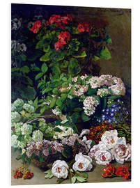 Foam board print  Spring Flowers - Claude Monet