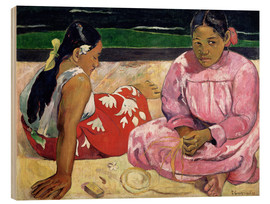 Wood  Tahitian Women on the Beach - Paul Gauguin