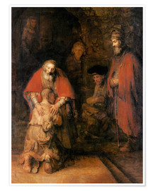Premium poster  Return of the Prodigal Son - Rembrandt van Rijn