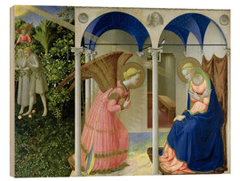 Wood print  The Annunciation - Fra Angelico