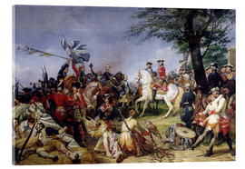 Acrylic print  The Battle of Fontenoy - Emile Jean Horace Vernet