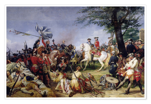 Premium poster The Battle of Fontenoy