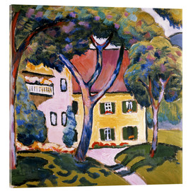 Acrylic print  House in a Landscape - August Macke