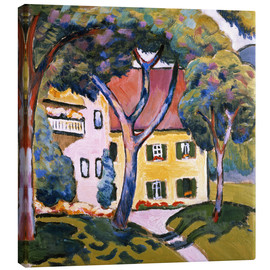 Canvas print  House in a Landscape - August Macke