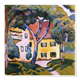 Premium poster  House in a Landscape - August Macke