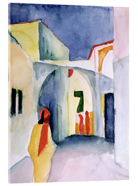 Acrylic print  Alley in Tunis - August Macke