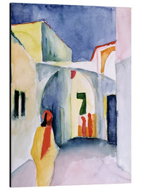 Aluminium print  Alley in Tunis - August Macke