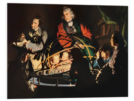 Foam board print  The Orrery - Joseph Wright of Derby