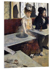 Foam board print  In a Cafe - Edgar Degas