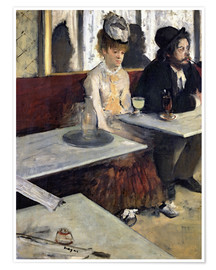 Poster  In a Cafe - Edgar Degas
