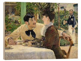 Wood print  The Garden of Pere Lathuille - Edouard Manet