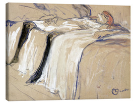 Canvas print  Woman lying on her Back - Lassitude - Henri de Toulouse-Lautrec