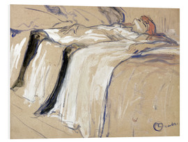 Foam board print  Woman lying on her Back - Lassitude - Henri de Toulouse-Lautrec