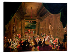 Acrylic print  Initiation ceremony in a Viennese Masonic Lodge - Ignaz Unterberger