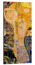 Alu-Dibond  Water Serpents I - Gustav Klimt