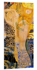 Foam board print  Water Serpents I - Gustav Klimt
