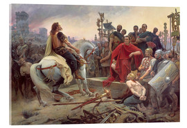 Acrylic print  Vercingetorix throws down his weapons at the feet of Julius Caesar - Lionel Noel Royer