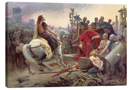 Canvas print  Vercingetorix throws down his weapons at the feet of Julius Caesar - Lionel Noel Royer