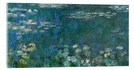 Acrylic print  Waterlilies, Green Reflections - Claude Monet