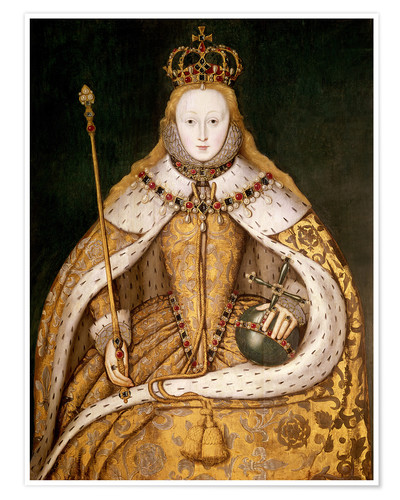 Premium poster Queen Elizabeth I in Coronation Robes
