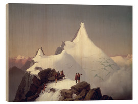 Wood print  View of the Grossglockner mountain - Marcus Pernhart