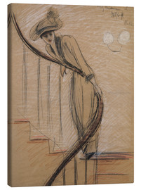 Canvas  The staircase - Paul Cesar Francois Helleu