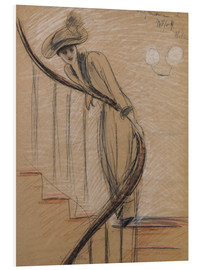 Foam board print  The staircase - Paul Cesar Francois Helleu
