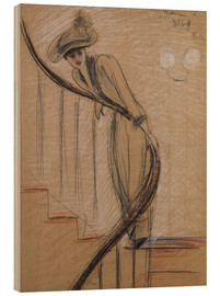 Wood  The Staircase - Paul Cesar Francois Helleu