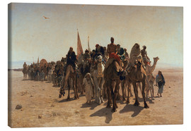 Canvas print  Pilgrims Going to Mecca - Leon-Auguste-Adolphe Belly