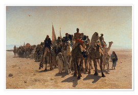 Premium poster  Pilgrims Going to Mecca - Leon-Auguste-Adolphe Belly