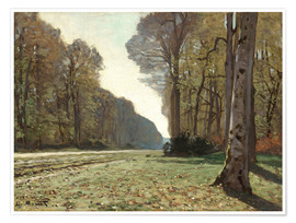 Poster  The Road to Bas-Breau - Claude Monet