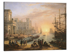 Alu-Dibond  Sea Port at Sunset - Claude Lorrain