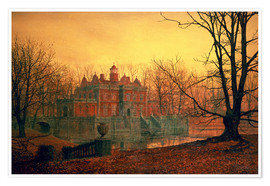 Poster  The Haunted House - John Atkinson Grimshaw