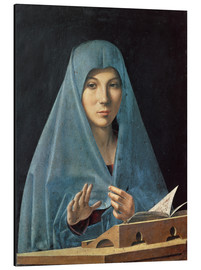 Aluminium print  The Annunciation - Antonello da Messina