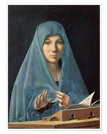 Premium poster  The Annunciation - Antonello da Messina